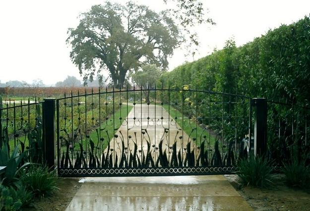 Agave Rose Vineyard Gate Lars Stanley Metalworks The