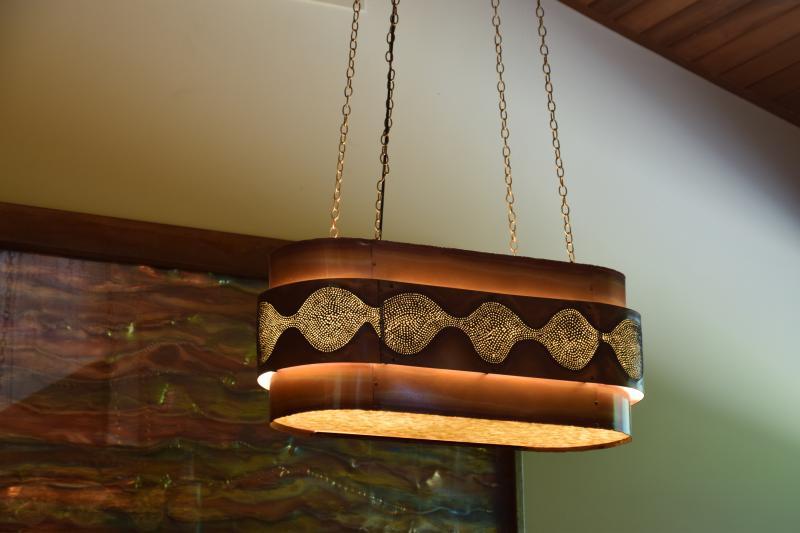 custom copper chandelier lightcrafters the guild of austin artisans