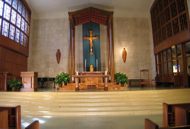 Overview of  the liturgical furniture for St. Austin Catholic Church