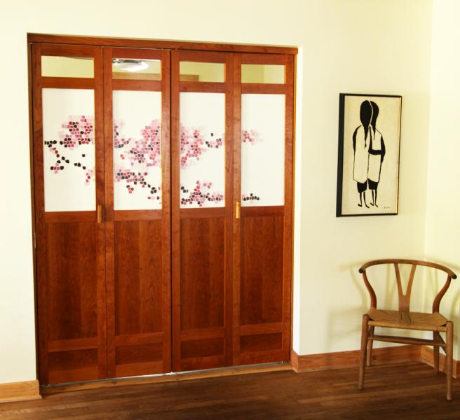 Double Cherry Bi Folding Doors Michael Yates Design